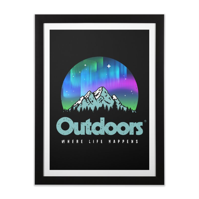 Outdoors Home Framed Fine Art Print by Vó Maria's Artist Shop