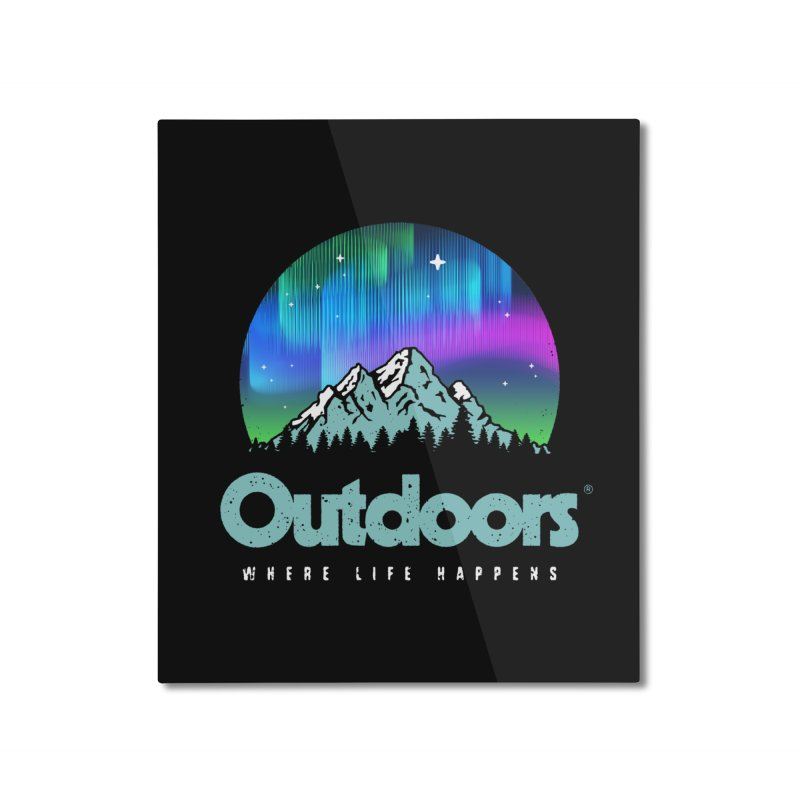 Outdoors Home Mounted Aluminum Print by Vó Maria's Artist Shop