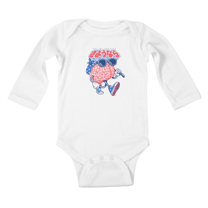 Sayonara Kids Baby Longsleeve Bodysuit by Vó Maria's Artist Shop