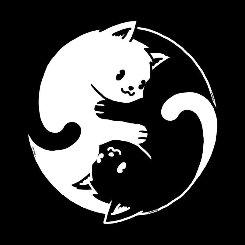 Yin Yang Cat Kids Pullover Hoody by Vó Maria's Artist Shop