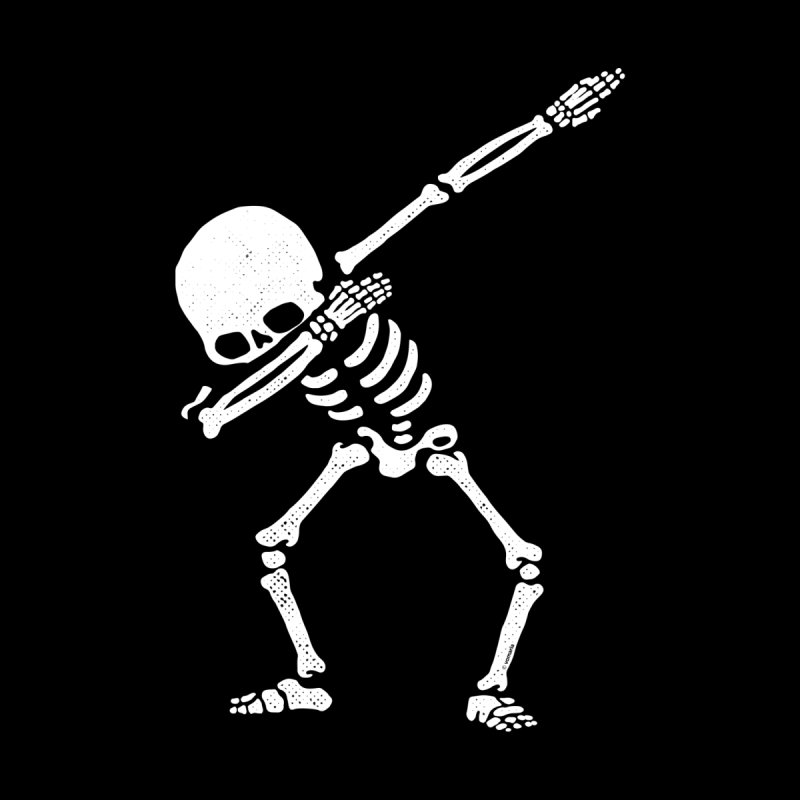 Dabbing Skeleton Dab Pose Hip Hop Skull Men's Socks by Vó Maria's Artist Shop