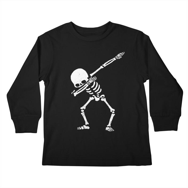 Dabbing Skeleton Dab Pose Hip Hop Skull Kids Longsleeve T-Shirt by Vó Maria's Artist Shop