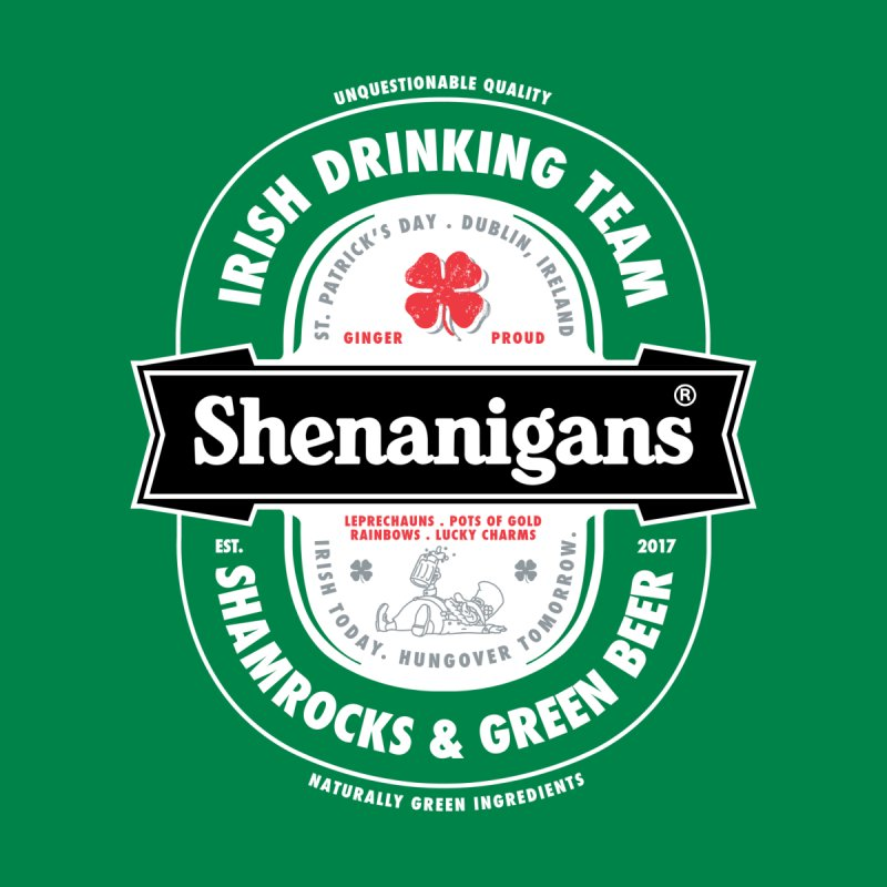 Shenanigans Beer Label by Vó Maria's Artist Shop