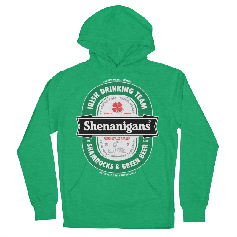 Shenanigans Beer Label Women's Pullover Hoody by Vó Maria's Artist Shop