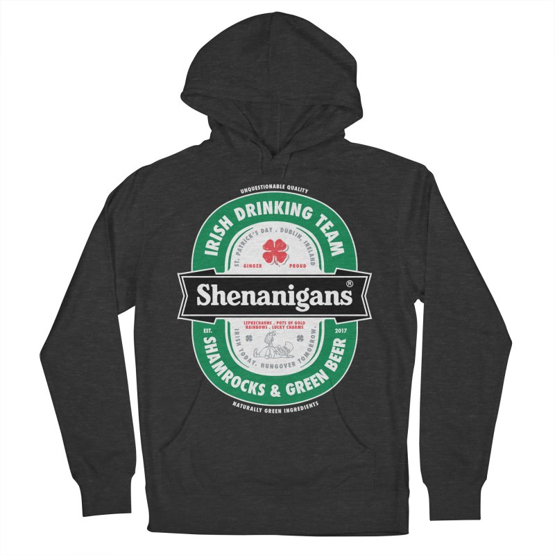 Shenanigans Beer Label Men's Pullover Hoody by Vó Maria's Artist Shop
