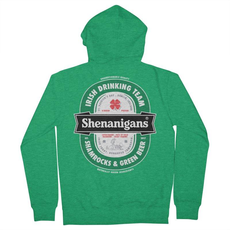 Shenanigans Beer Label Women's Zip-Up Hoody by Vó Maria's Artist Shop