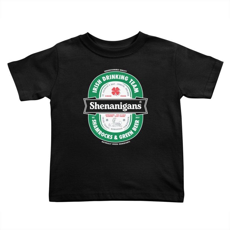 Shenanigans Beer Label Kids Toddler T-Shirt by Vó Maria's Artist Shop