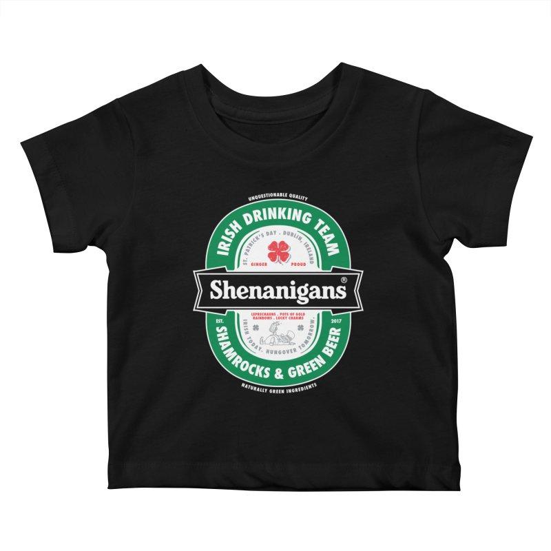 Shenanigans Beer Label Kids Baby T-Shirt by Vó Maria's Artist Shop