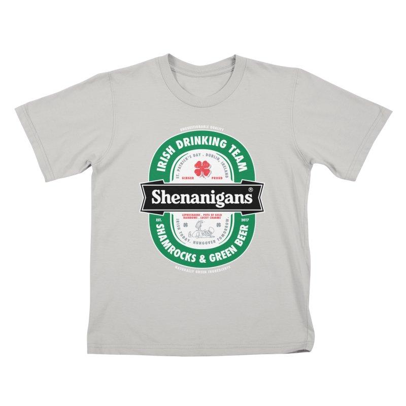 Shenanigans Beer Label Kids T-shirt by Vó Maria's Artist Shop