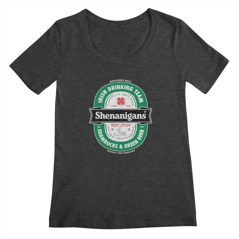 Shenanigans Beer Label Women's Scoopneck by Vó Maria's Artist Shop
