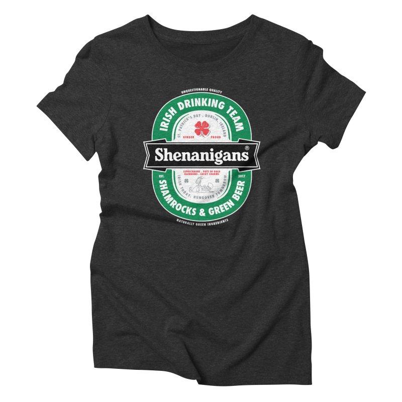 Shenanigans Beer Label Women's Triblend T-shirt by Vó Maria's Artist Shop