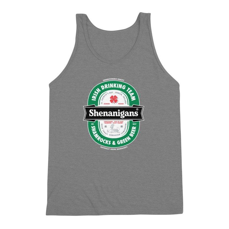 Shenanigans Beer Label Men's Triblend Tank by Vó Maria's Artist Shop