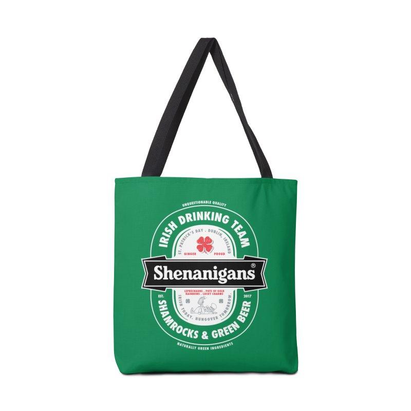 Shenanigans Beer Label Accessories Bag by Vó Maria's Artist Shop