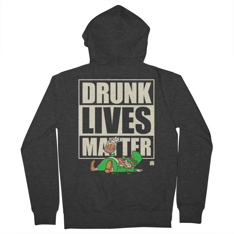 Drunk Lives Matter Men's Zip-Up Hoody by Vó Maria's Artist Shop