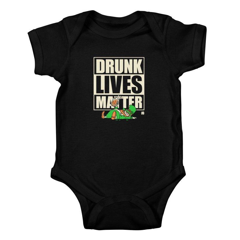 Drunk Lives Matter Kids Baby Bodysuit by Vó Maria's Artist Shop