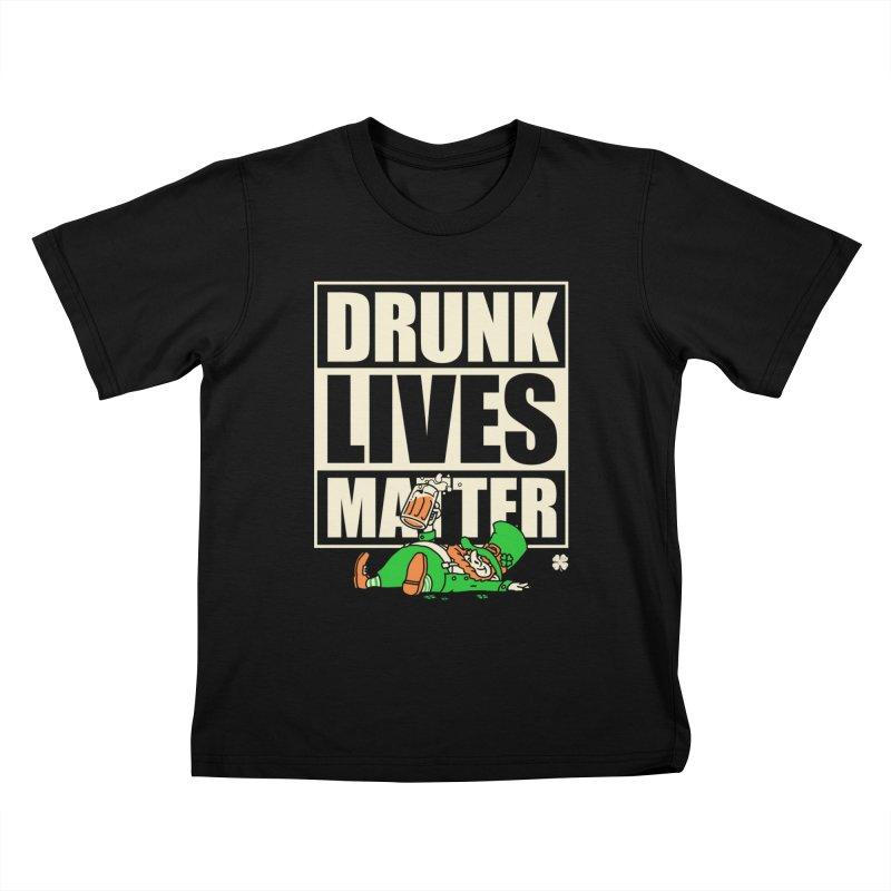 Drunk Lives Matter Kids T-shirt by Vó Maria's Artist Shop