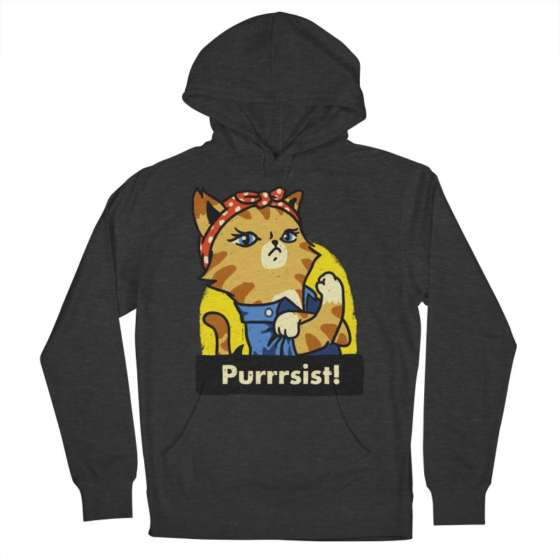 Purrrsist! (version 3) Women's Pullover Hoody by Vó Maria's Artist Shop