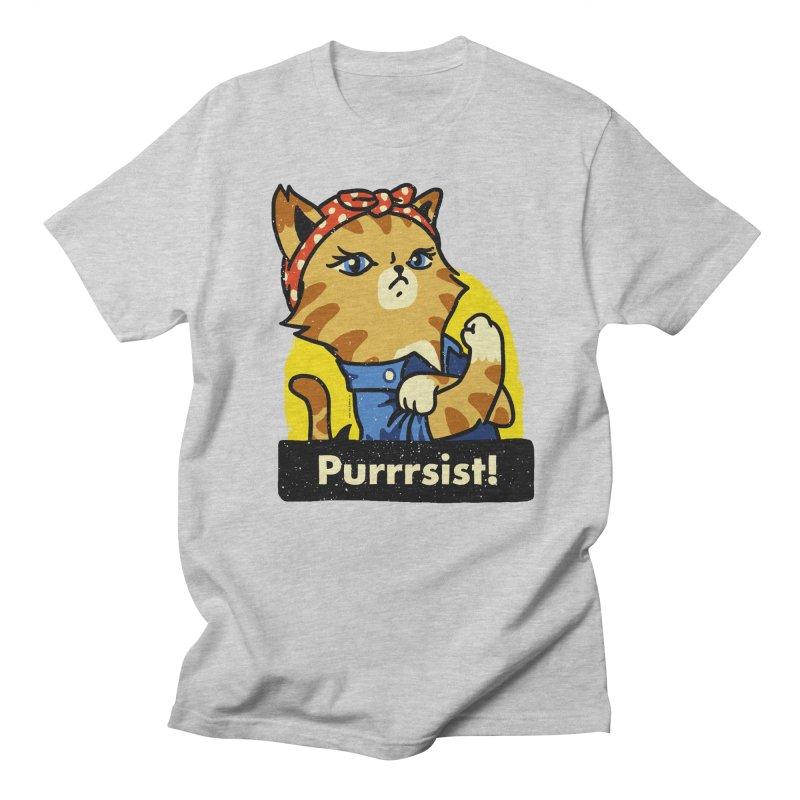 Purrrsist! (version 3) Men's T-shirt by Vó Maria's Artist Shop