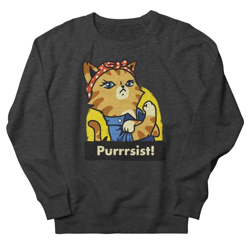 Purrrsist! (version 3) Women's Sweatshirt by Vó Maria's Artist Shop
