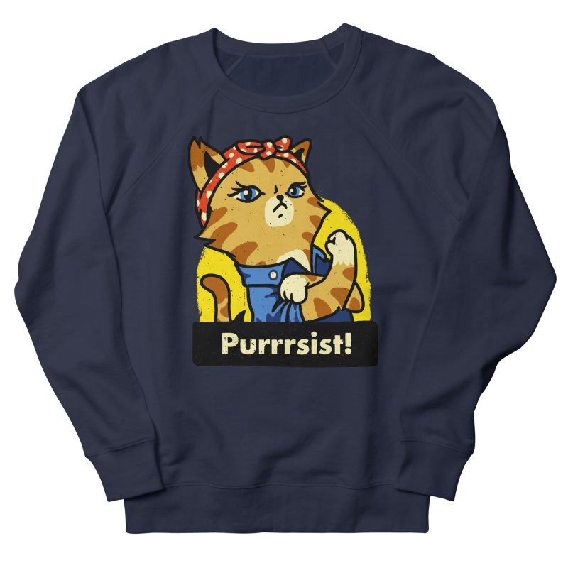 Purrrsist! (version 3) Women's Sweatshirt by Vó Maria's Artist Shop