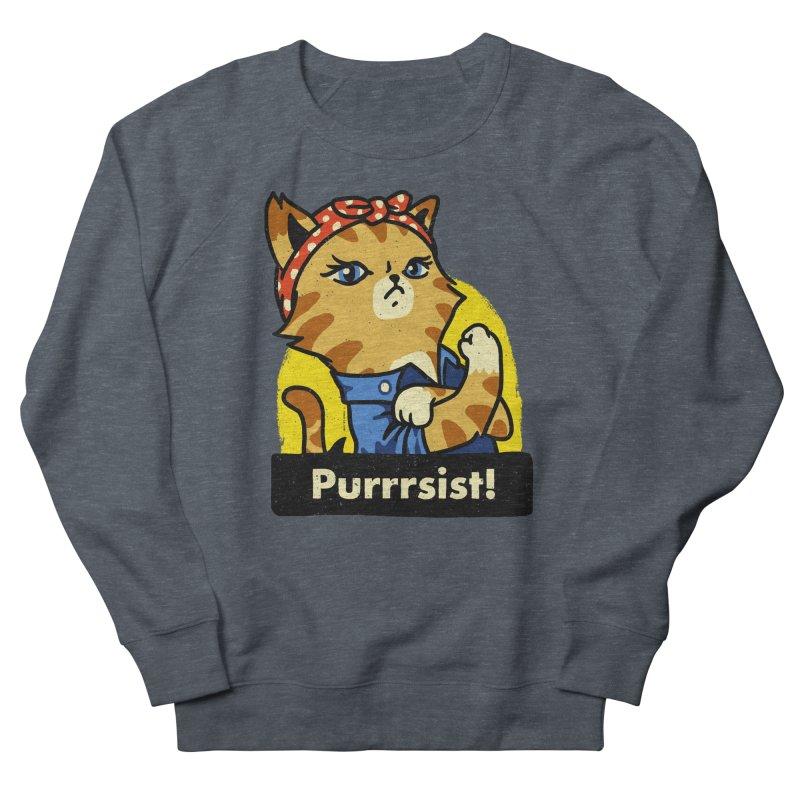 Purrrsist! (version 3) Men's Sweatshirt by Vó Maria's Artist Shop