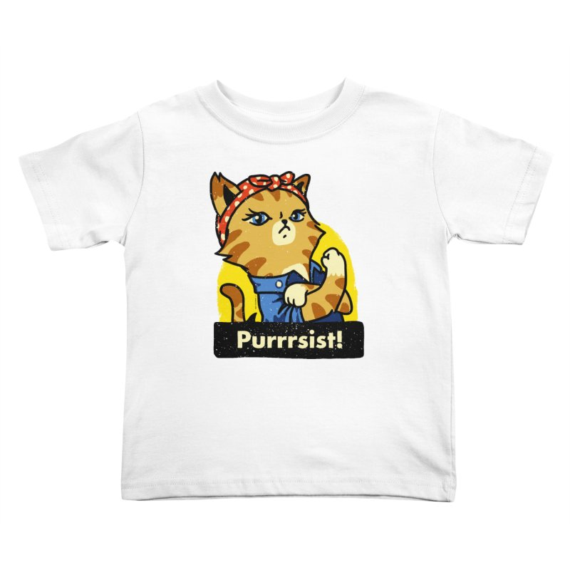 Purrrsist! (version 3) Kids Toddler T-Shirt by Vó Maria's Artist Shop