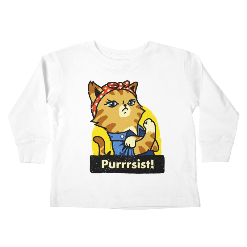 Purrrsist! (version 3) Kids Toddler Longsleeve T-Shirt by Vó Maria's Artist Shop