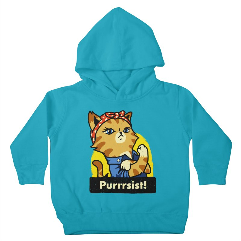 Purrrsist! (version 3) Kids Toddler Pullover Hoody by Vó Maria's Artist Shop