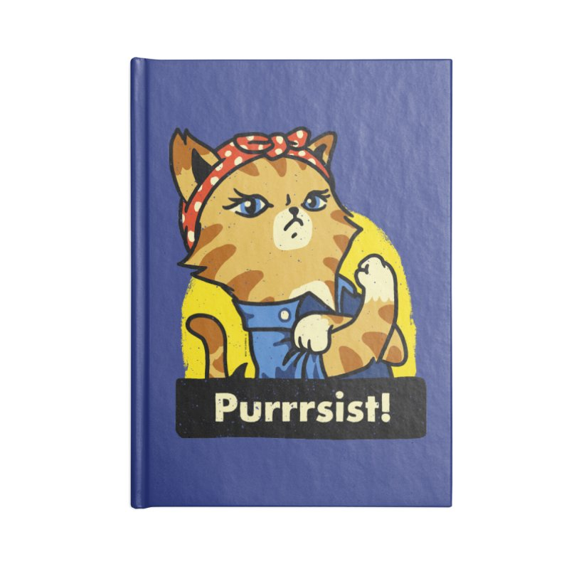 Purrrsist! (version 3) Accessories Notebook by Vó Maria's Artist Shop