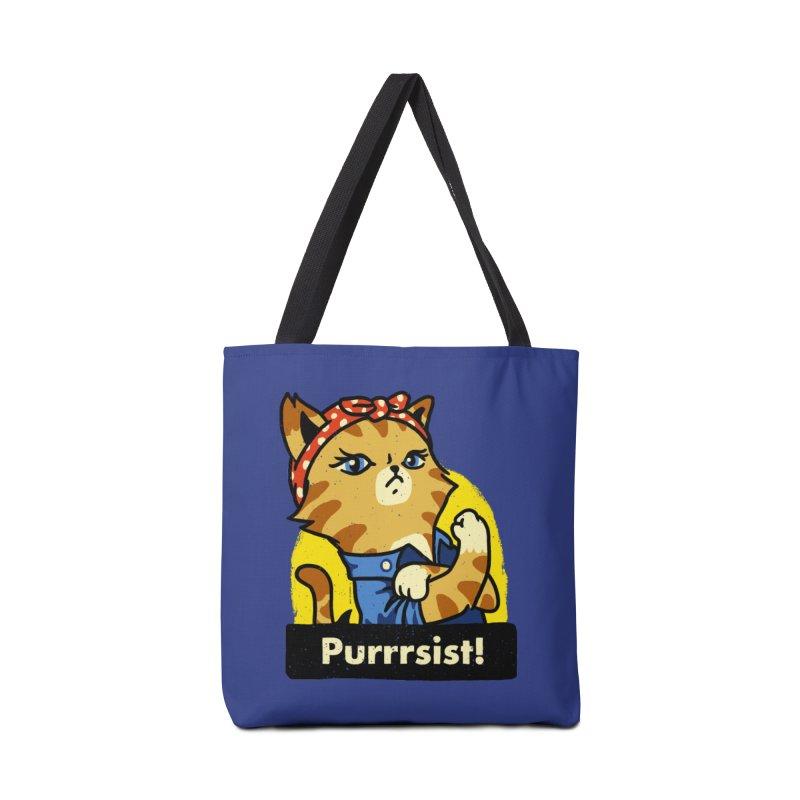 Purrrsist! (version 3) Accessories Bag by Vó Maria's Artist Shop