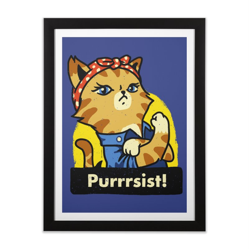 Purrrsist! (version 3) Home Framed Fine Art Print by Vó Maria's Artist Shop