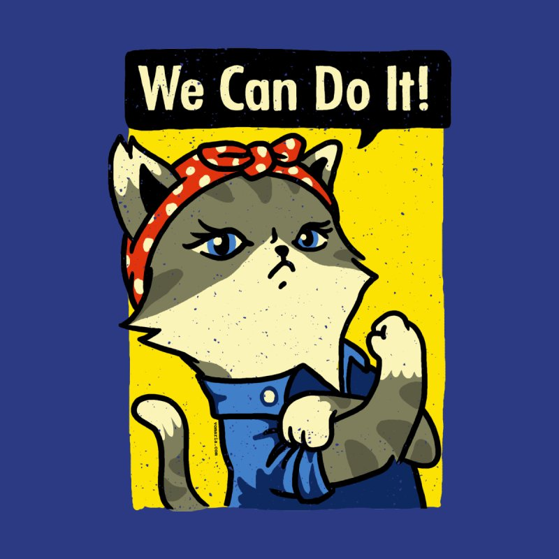Purrsist! We Can Do It! None  by Vó Maria's Artist Shop