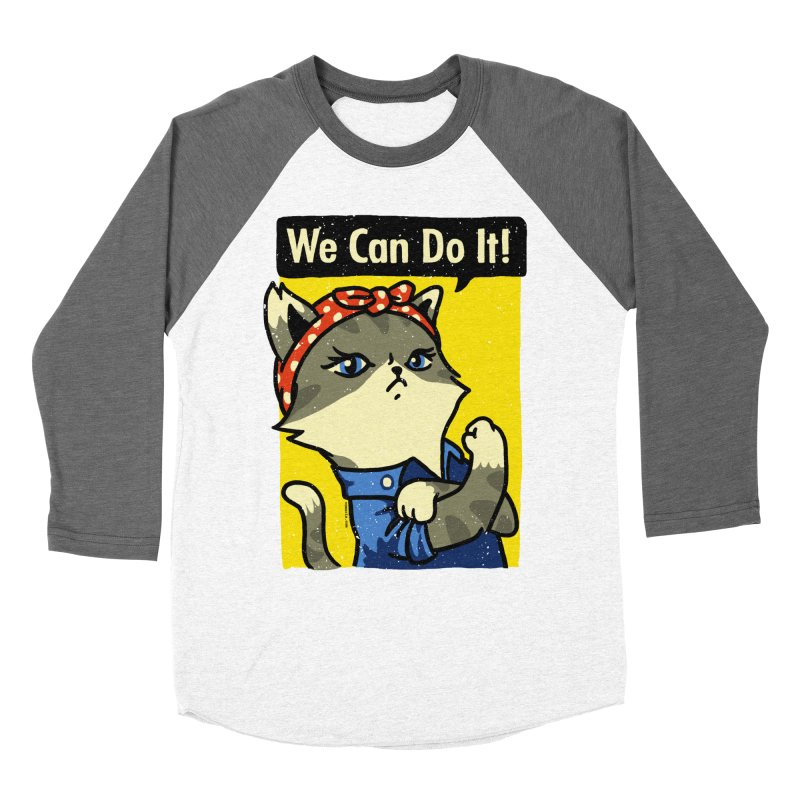 Purrsist! We Can Do It! Women's Longsleeve T-Shirt by Vó Maria's Artist Shop