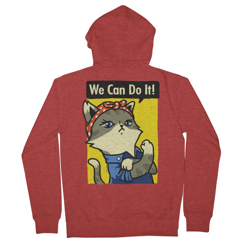 Purrsist! We Can Do It! Women's Zip-Up Hoody by Vó Maria's Artist Shop