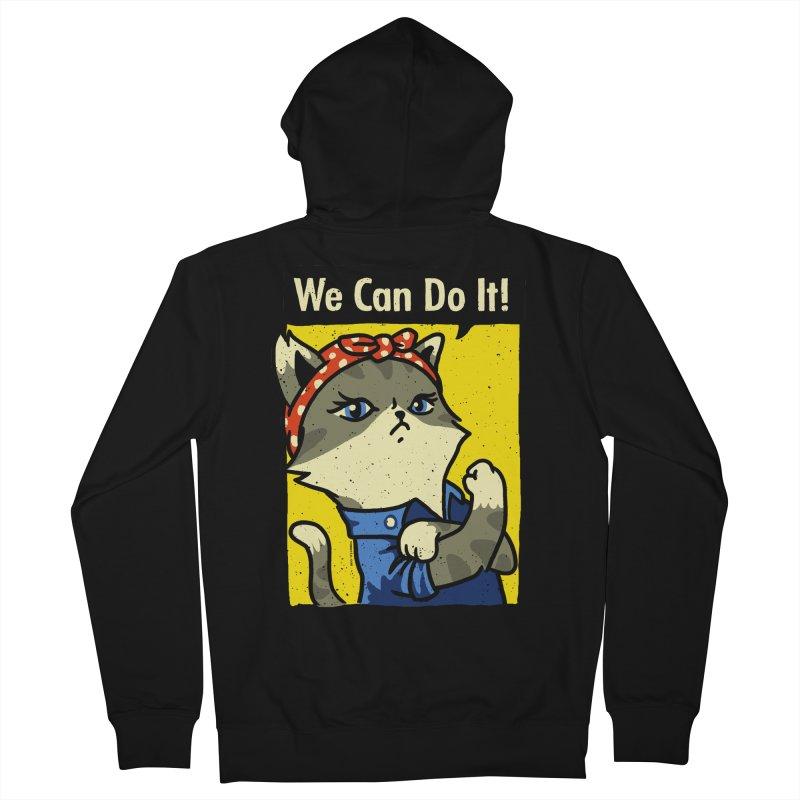 Purrsist! We Can Do It! Men's Zip-Up Hoody by Vó Maria's Artist Shop