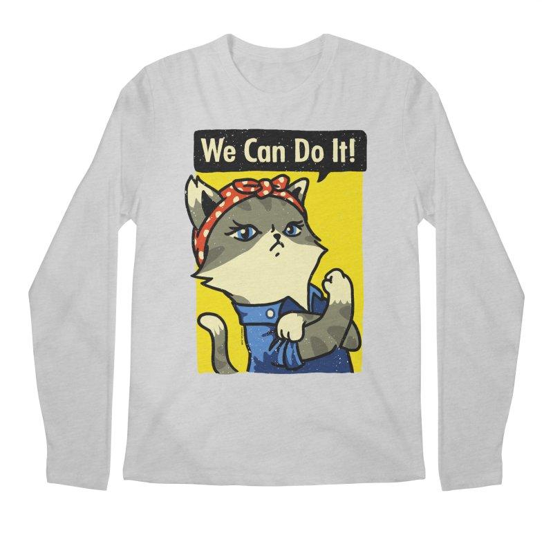 Purrsist! We Can Do It! Men's Longsleeve T-Shirt by Vó Maria's Artist Shop