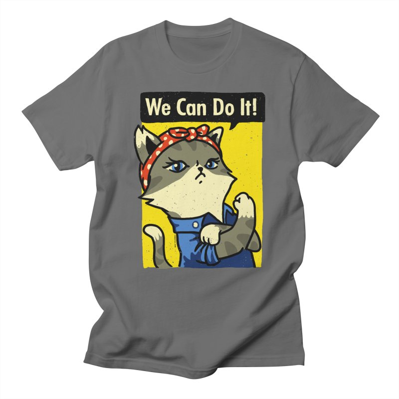 Purrsist! We Can Do It! Men's T-Shirt by Vó Maria's Artist Shop