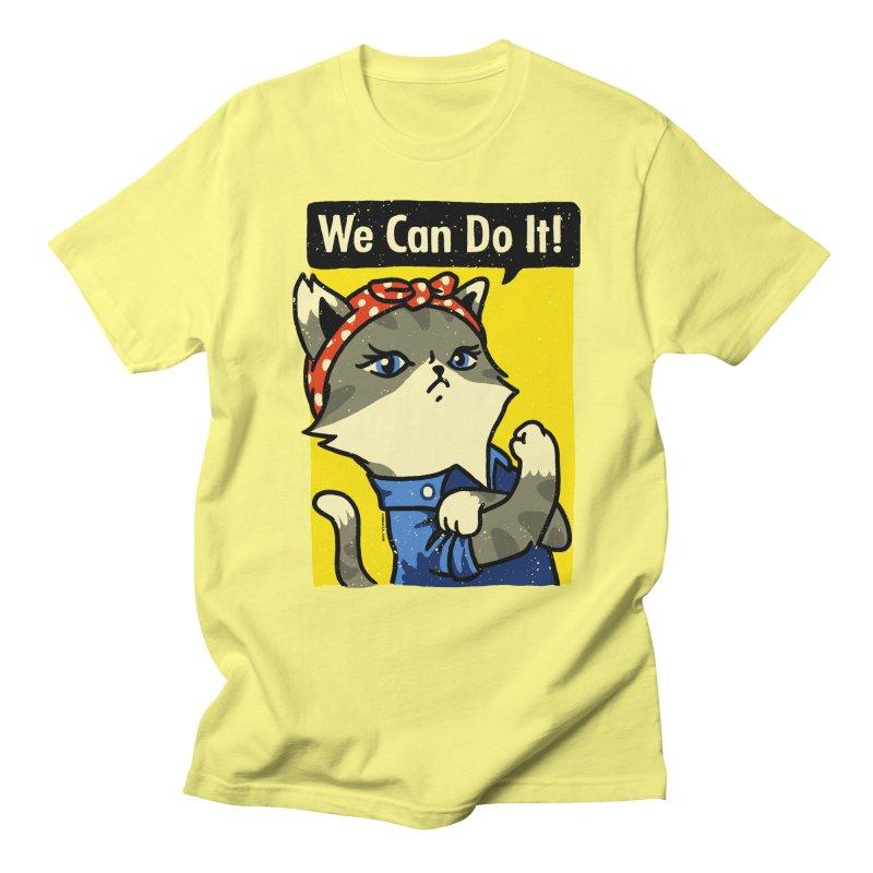 Purrsist! We Can Do It! Men's T-shirt by Vó Maria's Artist Shop