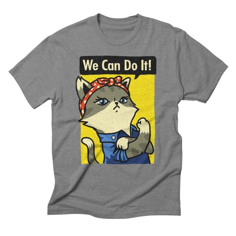 Purrsist! We Can Do It! Men's Triblend T-shirt by Vó Maria's Artist Shop