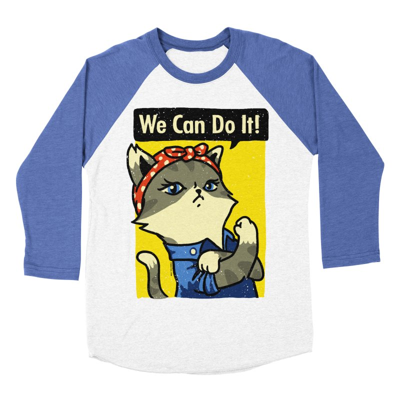 Purrsist! We Can Do It! Men's Baseball Triblend T-Shirt by Vó Maria's Artist Shop