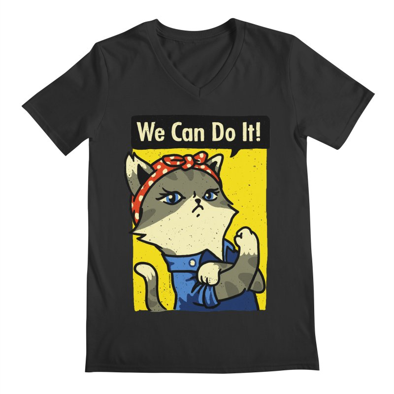 Purrsist! We Can Do It! Men's V-Neck by Vó Maria's Artist Shop
