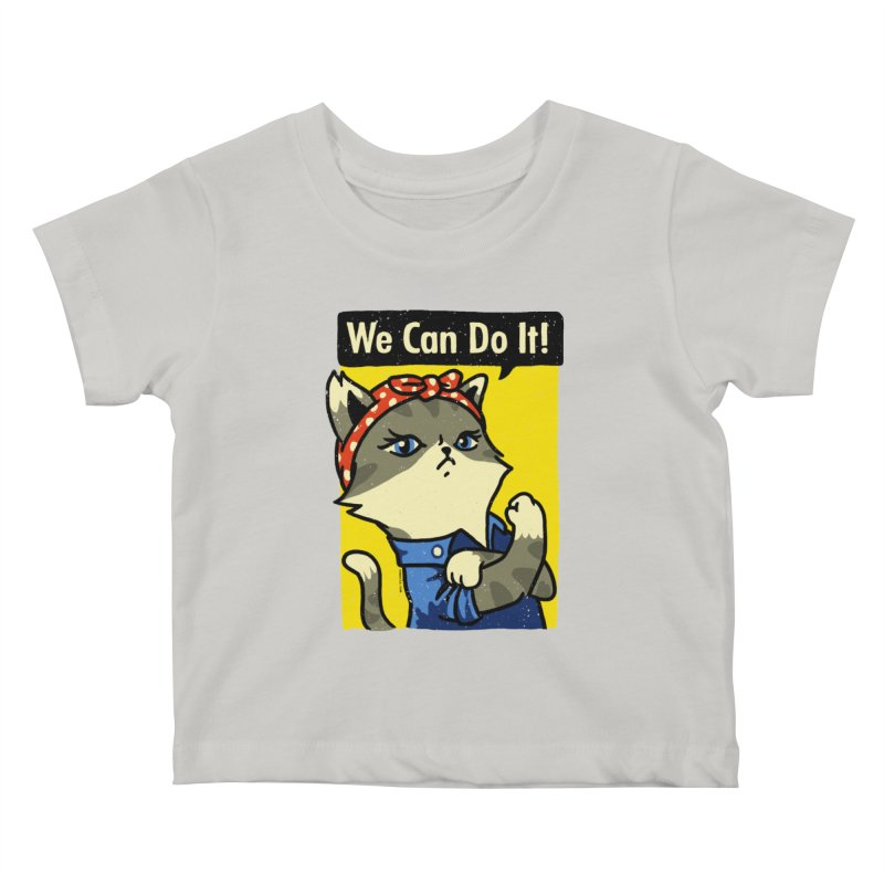 Purrsist! We Can Do It! Kids Baby T-Shirt by Vó Maria's Artist Shop