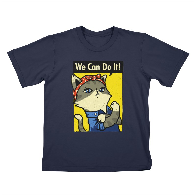 Purrsist! We Can Do It! Kids T-Shirt by Vó Maria's Artist Shop