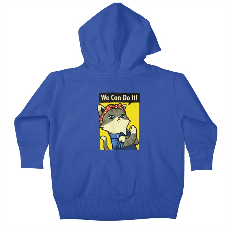 Purrsist! We Can Do It! Kids Baby Zip-Up Hoody by Vó Maria's Artist Shop