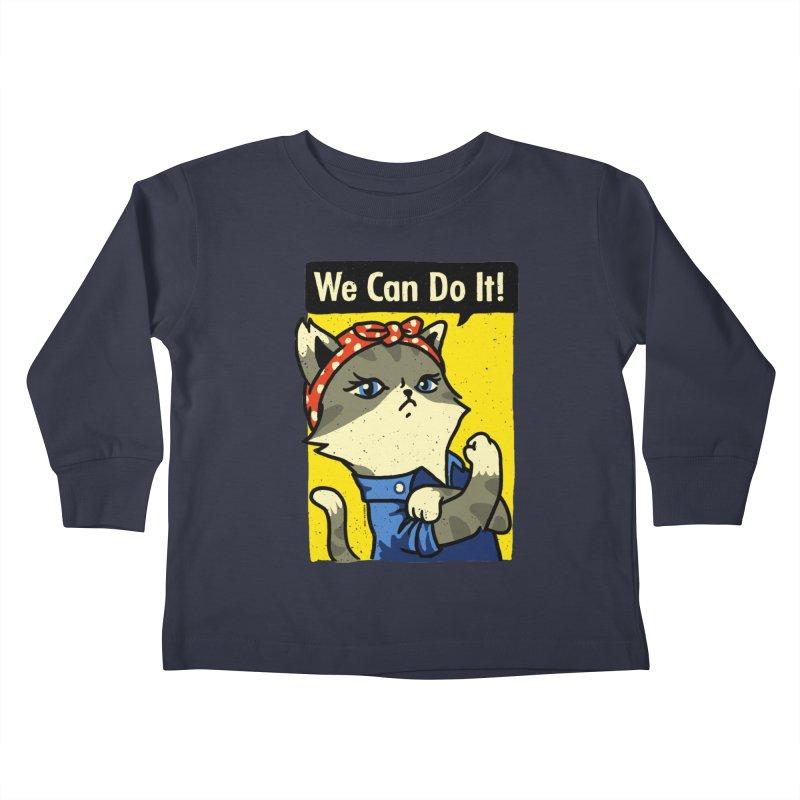 Purrsist! We Can Do It! Kids Toddler Longsleeve T-Shirt by Vó Maria's Artist Shop
