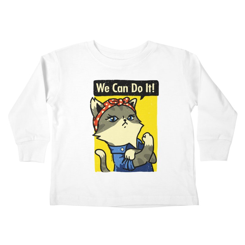 Purrsist! We Can Do It! Kids Toddler Longsleeve T-Shirt by Vó Maria's Artist Shop