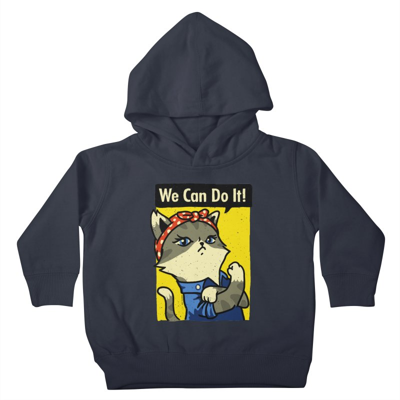 Purrsist! We Can Do It! Kids Toddler Pullover Hoody by Vó Maria's Artist Shop