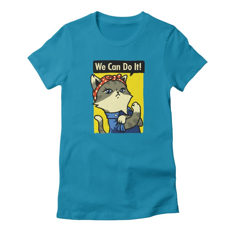 Purrsist! We Can Do It! Women's T-Shirt by Vó Maria's Artist Shop