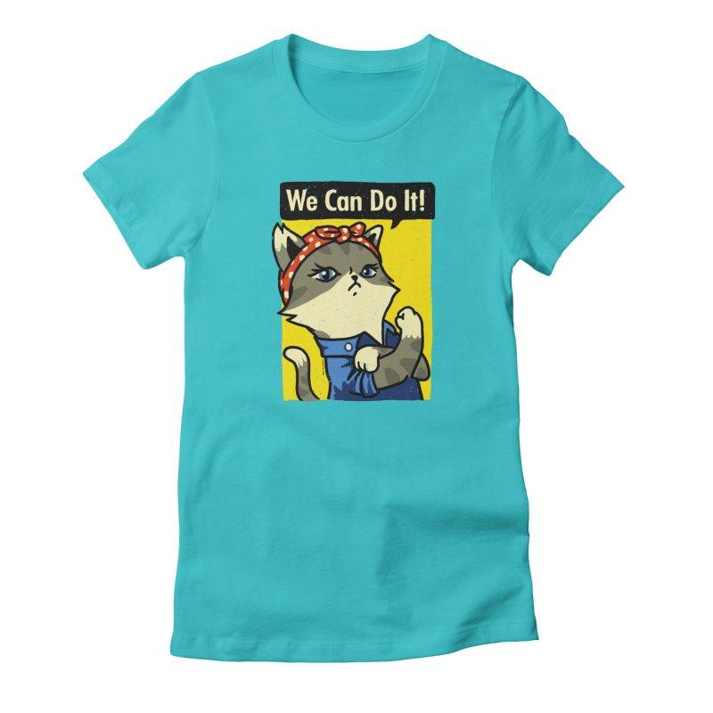 Purrsist! We Can Do It! Women's T-Shirt by Vó Maria's Artist Shop