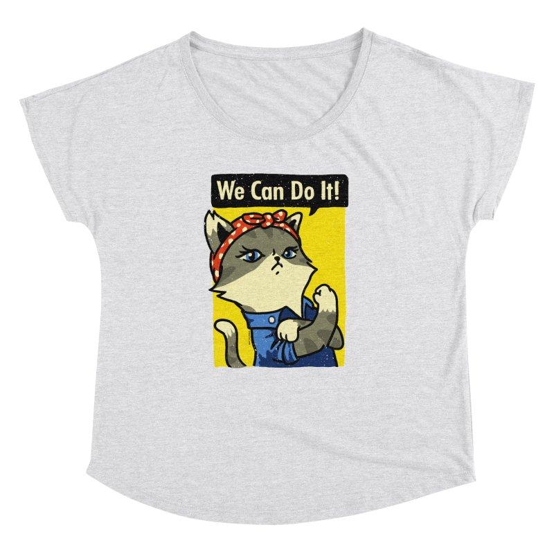Purrsist! We Can Do It! Women's Dolman by Vó Maria's Artist Shop